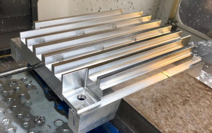 Very satisfying heat sink plate for our customer. #haas #machining #cncmachining  @ …